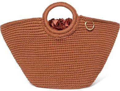 Mizele - Sun Crocheted Cotton Tote - Brown