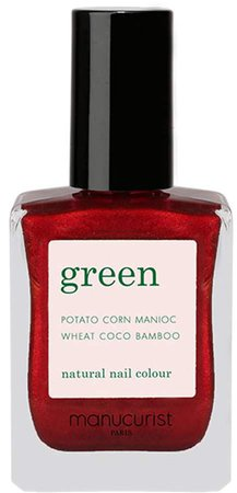 Green Nail Lacquer - Red Hibiscus