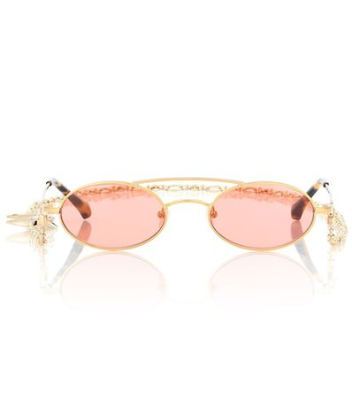 X Linda Farrow oval sunglasses