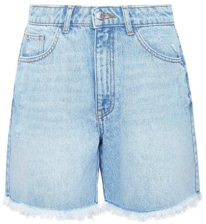 Blue Lightwash Bermuda Denim Shorts