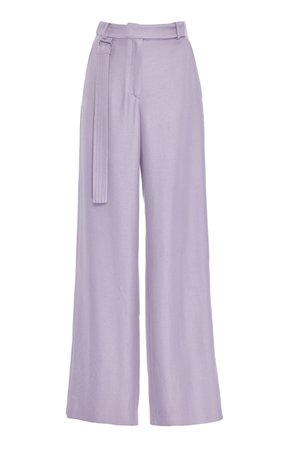 Duchess Satin Wide-Leg Pants by Sally LaPointe | Moda Operandi