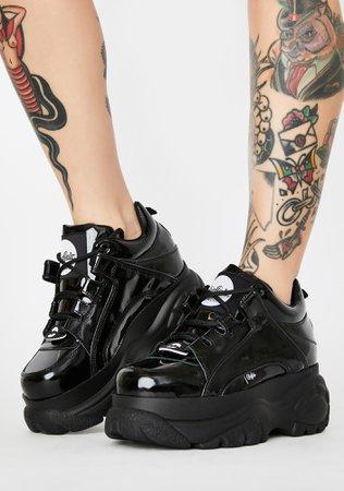 Buffalo London Classic Low Patent Leather Sneakers | Dolls Kill