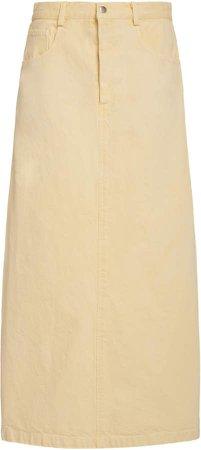 Sea Metta Acid Wash Denim Skirt