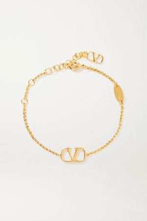 Gold Valentino Garavani gold-tone bracelet | Valentino | NET-A-PORTER