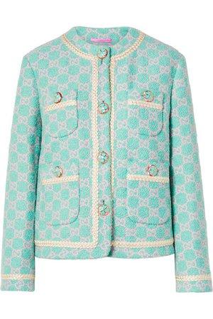 Gucci Cotton-blend jacquard jacket