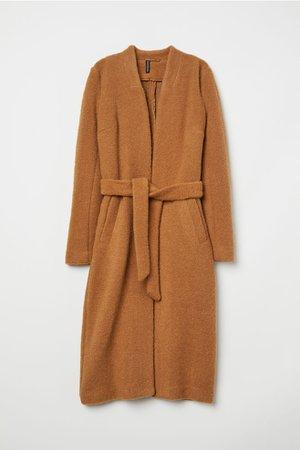 Wool-blend Coat - Dark beige - | H&M US