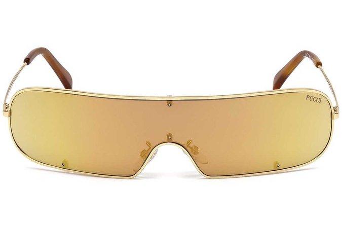 emilio pucci ep0068 sunglasses yellow