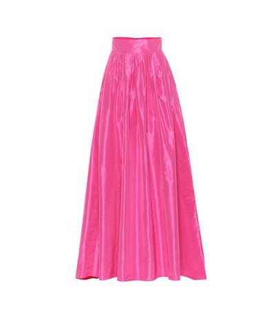 Silk taffeta skirt