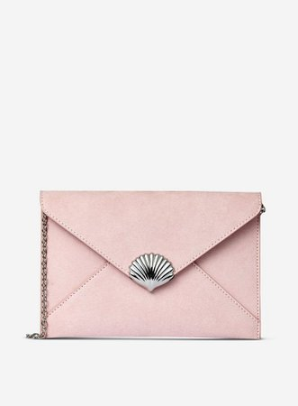 Blush Shell Clutch Bag | Dorothy Perkins