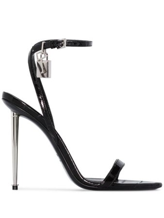 Tom Ford Padlock 105Mm Sandals W2272SEEE002 Black | Farfetch