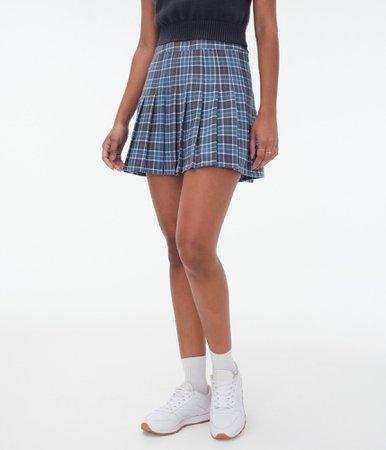 Plaid High-Waisted Tennis Skirt