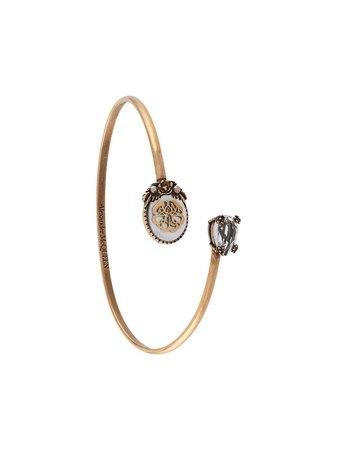 Alexander McQueen Charm Seal Cuff Bracelet - Farfetch