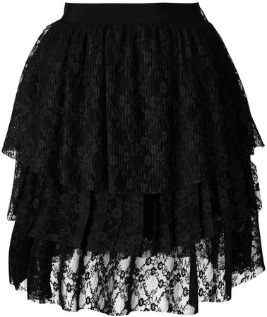 lace tulle layered skirt