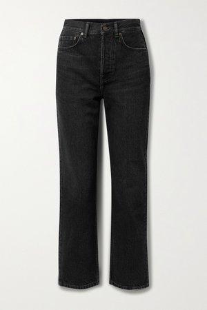 Black High-rise straight-leg jeans | Acne Studios | NET-A-PORTER