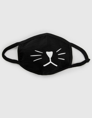 Cat Fashion Face Mask - BLKWH - COA1089 | Tillys