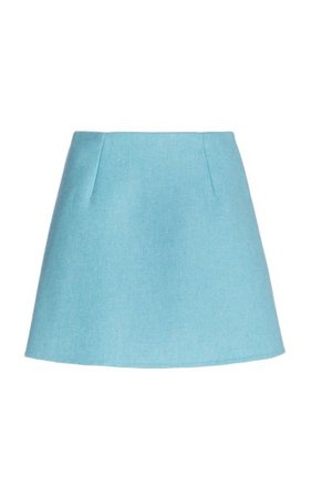 A-Line Wool Blend Mini Skirt By Carolina Herrera | Moda Operandi