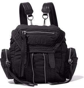 Marti Convertible Leather-trimmed Shell Backpack