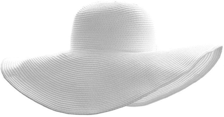 Ayliss Women Floppy Derby Hat Wide Large Brim Beach Straw Sun Cap at Amazon Women's Clothing store
