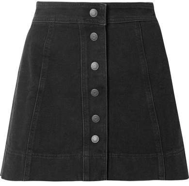 Metropolis Stretch-denim Mini Skirt - Black