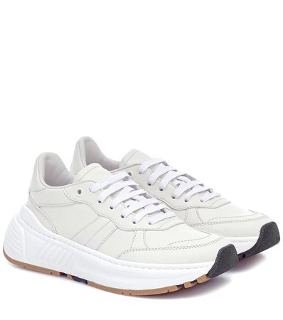 Speedster Leather Sneakers, Bottega Veneta