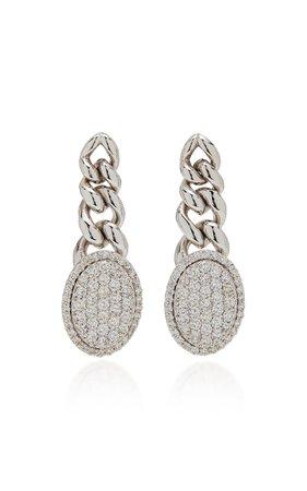Botier 18K White Gold Diamond Earrings