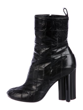 Louis Vuitton Silhouette Monogram Pattern Combat Boots - Shoes - LOU353424   The RealReal