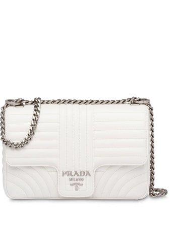 Prada Diagramme Leather Shoulder Bag - Farfetch