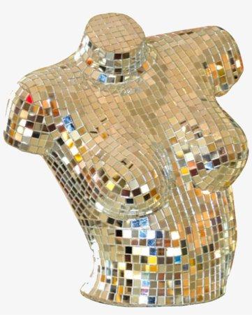 Gold Disco Sculpture Polyvore Moodboard Filler - Sculpture - Free Transparent PNG Download - PNGkey