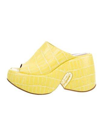 Sies Marjan Embossed Platform Slide Sandals - Shoes - SIESM20841 | The RealReal
