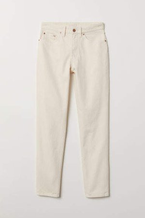 Mom Jeans - White