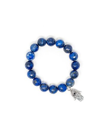 Katie's Cottage Barn Faceted Lapis Lazuli Hamsa Bracelet & Reviews - Bracelets - Jewelry & Watches - Macy's