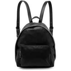 Stella McCartney Falabella Small Faux Leather Backpack (55.615 RUB) ❤ liked on Polyvore featuring bags, backpacks, accessories, backpack, bags backpacks, black, backpack bags, stella mccartney bag, rucksack bags and fake leather backpack