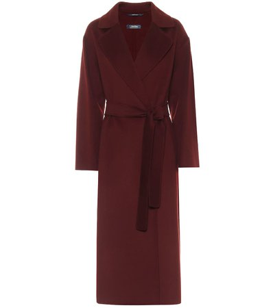 S Max Mara, Elena belted virgin-wool coat