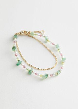 Layered Chain Charm Bracelet - Gold - Bracelets - & Other Stories
