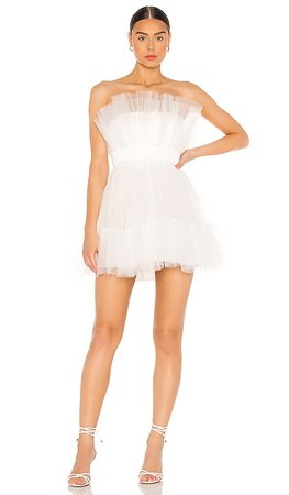 Katie May Ellle Mini Dress in Ivory | REVOLVE
