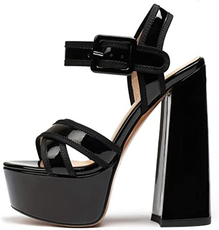 *clipped by @luci-her* High Heel Sandals Platform Ankle Strap Chunky Heels Comfortable Peep Toe Sexy Party Shoes Pumps | Heeled Sandals