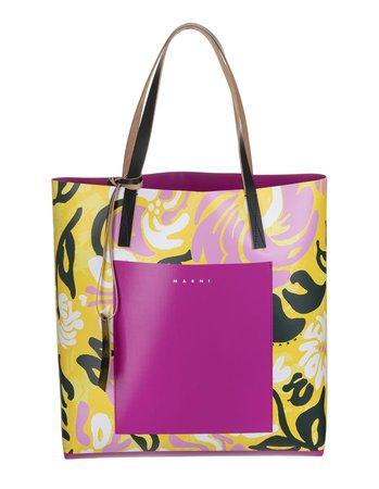 Abstract-print Logo Tote Bag