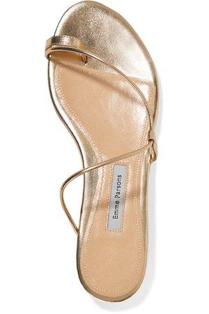 Gold Susan metallic leather sandals | Emme Parsons | NET-A-PORTER