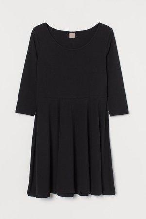 H&M+ Short Jersey Dress - Black