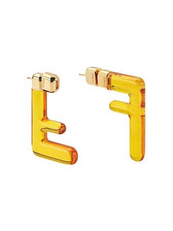 Fendi Small Ff Earrings Ss20 | Farfetch.com