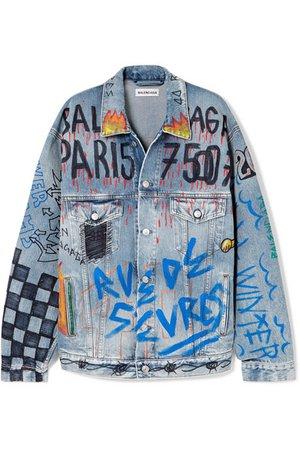 Balenciaga | Oversized printed denim jacket | NET-A-PORTER.COM