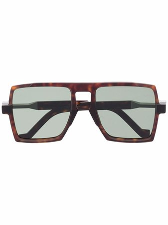 Shop VAVA Eyewear oversized-frame tortoiseshell sunglasses with Express Delivery - FARFETCH