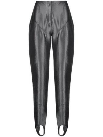 Mugler Metallic Stirrup Trousers 19P1PA0261561 | Farfetch