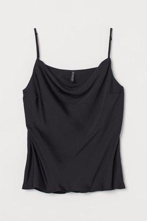 Satin Tank Top - Black - Ladies | H&M US