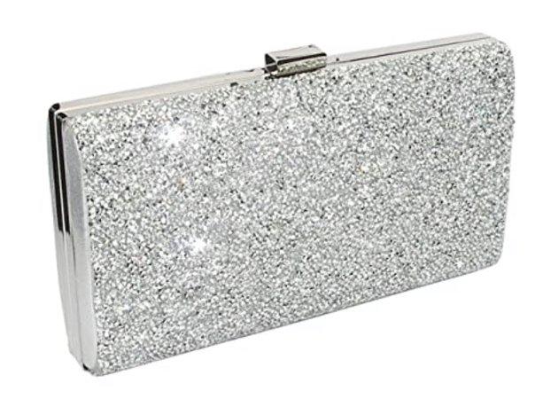 silver clutch wallet