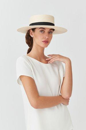 Straw Bolero Hat   Cuyana