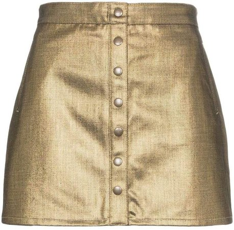 buttoned cotton mini skirt
