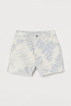 Mom High Denim Shorts - Blue