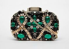 Speechless over this emerald clutch. | Women's Accessories | Beaded bags, Beaded purses, Clutch bag