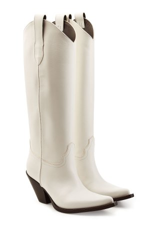 Leather Knee Boots Gr. IT 40